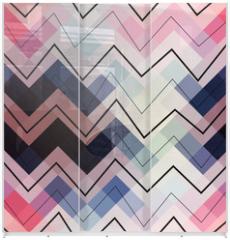 Panel szklany do szafy przesuwnej - Geometric chevron pattern.