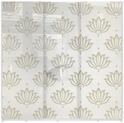 Panel szklany do szafy przesuwnej - water lily , wedding card design, royal India