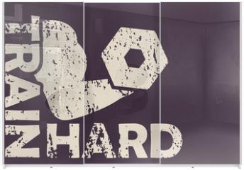 Panel szklany do szafy przesuwnej - Train hard vector illustration, eps10, easy to edit