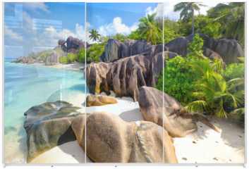 Panel szklany do szafy przesuwnej - Anse Source d'Argent beach, La Digue Island, Seyshelles