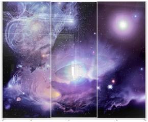 Panel szklany do szafy przesuwnej - Fantasy Space Nebula