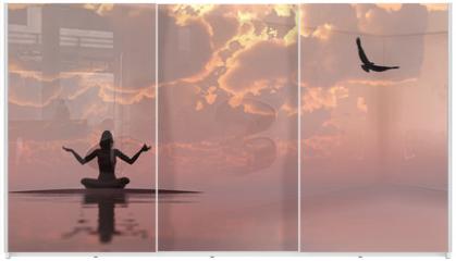 Panel szklany do szafy przesuwnej - Zen