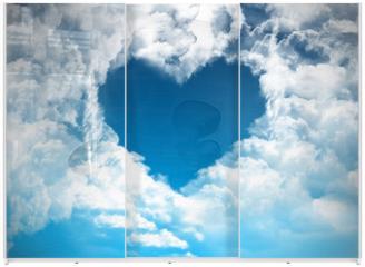 Panel szklany do szafy przesuwnej - Heart on the sky