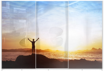Panel szklany do szafy przesuwnej - freedom concept