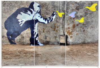 Panel szklany do szafy przesuwnej - Graffiti liberté