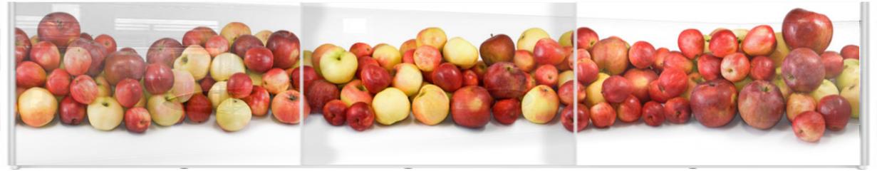 Panel szklany do szafy przesuwnej - ripe apples