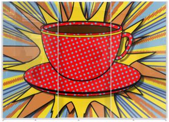 Panel szklany do szafy przesuwnej - Bol de chocolat pop art