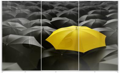 Panel szklany do szafy przesuwnej - yellow umbrella
