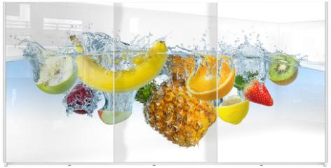 Panel szklany do szafy przesuwnej - multi fruit splash