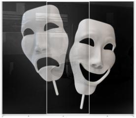 Panel szklany do szafy przesuwnej - Drama and comedy