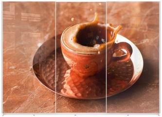 Panel szklany do szafy przesuwnej - coffee espresso splash