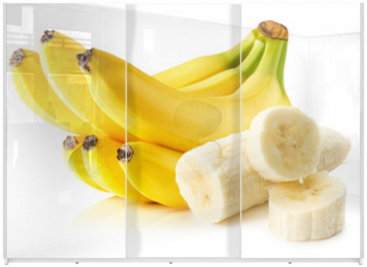 Panel szklany do szafy przesuwnej - bananas isolated on the white background