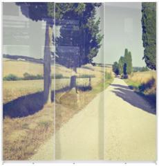 Panel szklany do szafy przesuwnej - Cypress Alley