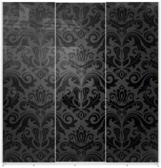 Panel szklany do szafy przesuwnej - Damask Seamless Vector Pattern