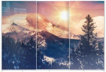 Panel szklany do szafy przesuwnej - Colorado Mountains Vista