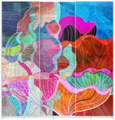Panel szklany do szafy przesuwnej - abstract watercolor background