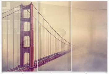 Panel szklany do szafy przesuwnej - Golden Gate Into the Fog