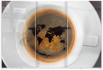 Panel szklany do szafy przesuwnej - World cup of coffee
