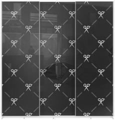 Panel szklany do szafy przesuwnej - Beauty and Fashion icons