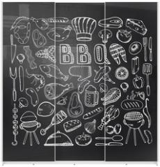 Panel szklany do szafy przesuwnej - Barbecue grill party