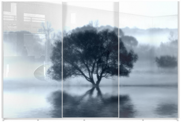 Panel szklany do szafy przesuwnej - The Wish Tree