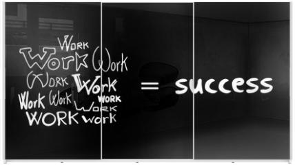 Panel szklany do szafy przesuwnej - success secret message