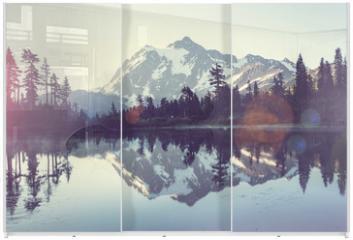 Panel szklany do szafy przesuwnej - Picture lake