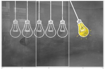 Panel szklany do szafy przesuwnej - Lampen / Idee / Konzept