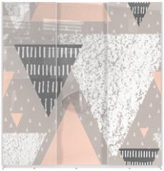Panel szklany do szafy przesuwnej - Abstract Geometric Pattern