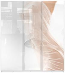 Panel szklany do szafy przesuwnej - Photo of nude female body with fabric