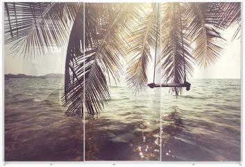 Panel szklany do szafy przesuwnej - Tropiki