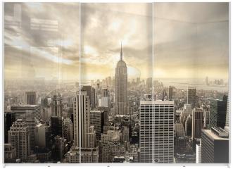 Panel szklany do szafy przesuwnej - Manhattan