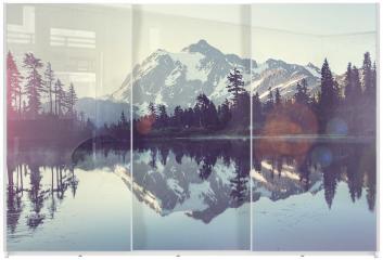 Panel szklany do szafy przesuwnej - Obraz z jeziorem