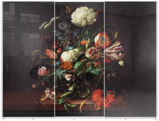 Panel szklany do szafy przesuwnej - Vase of flowers - Jan Davidsz de Hee