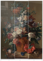 Panel szklany do szafy przesuwnej - Vase of flowers - Jan van Huysum