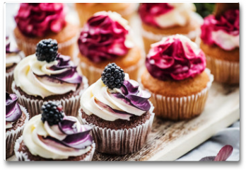 Plakat - berry cupcakes