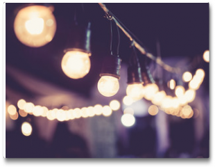 Plakat - Lights decoration Event Festival outdoor Vintage tone