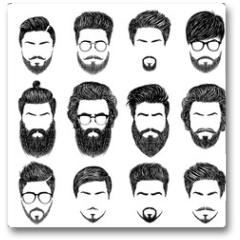 Plakat - bearded man hairstyles