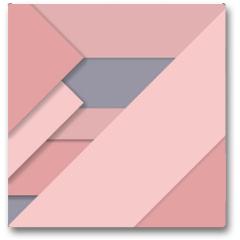 Plakat - Rose Quartz trend Material design