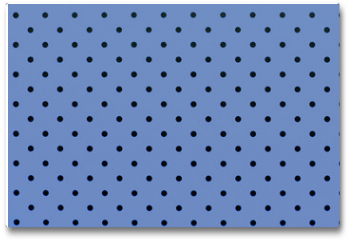 Plakat - wallpaper pattern black dots in pantone blue serenity color background