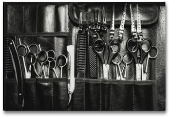 Plakat - A set of cutting tools for cutting barber beard salon