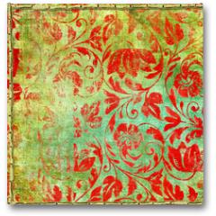 Plakat - retro floral patterns