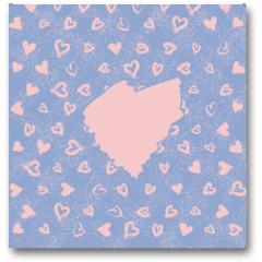 Plakat - Abstract seamless romance pattern with main heart
