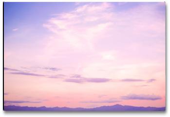 Plakat - Nature background of beautiful landscape - serenity and rose quartz color filter
