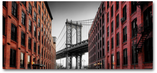 Plakat - Manhattan Bridge from Washington Street, Brooklyn