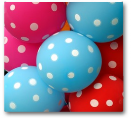 Plakat - Colorful Balloons Make a Happy Mood