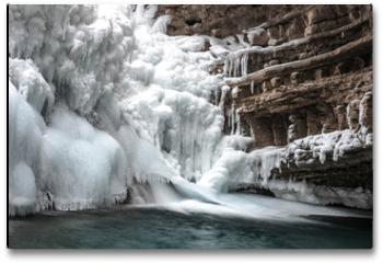 Plakat - Canyon Frozen Water Fall