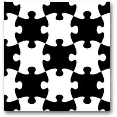Plakat - Jigsaw puzzle seamless pattern
