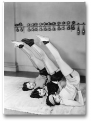Plakat - Three women exercising