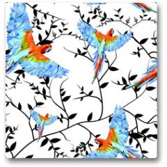 Plakat - Papuga geometryczna1